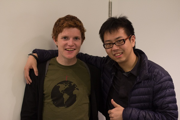 Morgan和他大学好友David意外在上海相聚