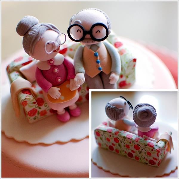 """""""老夫老妻""""结婚周年纪念蛋糕"""