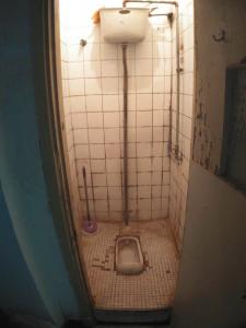 老翟家只能容下一人的厕所兼浴室