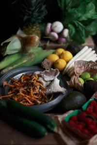 市场上买来的新鲜应季食材是陈楠写作的灵感来源之一