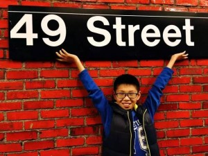 在纽约地铁