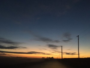 农场的夕阳