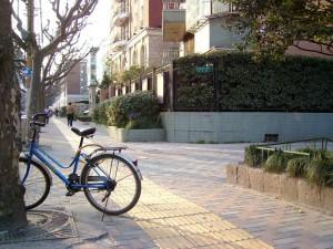 上海骑的车和每天回到新华路的街口