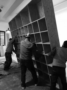 新图书馆的装修现场