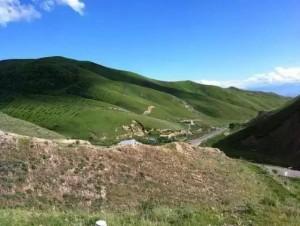 2013年7月9日,来新疆后第一次去昭苏老公驻地