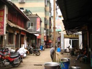 十字街上的小吃店