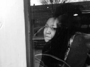 在EM7收碟,朋友在窗外叫了我一声