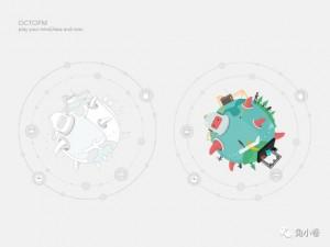 章鱼FM 启动页品牌设计